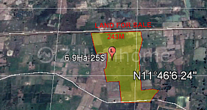 Land for sale 2.2km from Street 51
