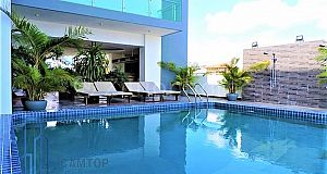 Two bedrooms Modern apartment with pool and gym for  rent in Toul Kork