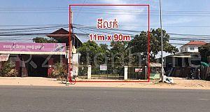 Land For Sale at Veal Sbov (National road 1)