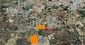 LAND for SALE at good price in Dangkor next to Borey New Word (4.0 km only from Phnom Penh Airport, road No. 3)