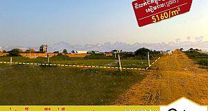 ដីលក់នៅជិតផ្លូវក្រវាត់ក្រុងសៀមរាប Land For Sale (P-000503)