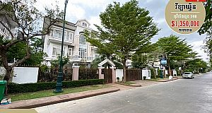 Queen Villa For Sale | វីឡា ឃ្វីន សម្រាប់លក់ ទីតាំងល្អស្ថិតនៅ (បុរី ប៉េងហួត 598)
