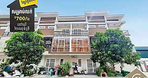 ផ្ទះវីឡាសម្រាប់ជួលក្នុងបុរី ថៃ ឈុនគ្រី (L-4717) Twin Villa for Rent